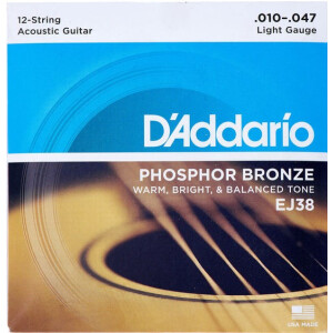 Daddario Acoustic Strings Light Phosphor Bronze 12-STRING...